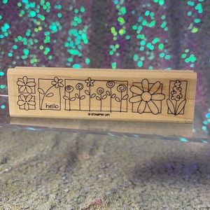 """Brand new """"hello with flowers"""" stampin up stamp"""